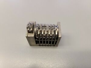 Leibinger backward  6 Digit Letterpress Numbering Machine ROMAN FONT #13