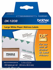 Brother DK1208 Large White Address Labels for QL550, QL-550 label printers