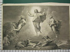 c1830 LARGE ANTIQUE PRINT ~ TRANSFIGURATION OF JESUS MATTHEW 17