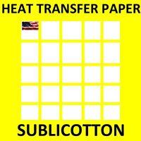 "SUBLICOTTON Papel Transfer Para Algodon Con Tintas De Sublimacion 8.5""X11x25 Hjs"