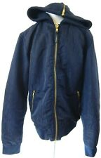Scotch & Soda Amsterdam Blauw Men's Medium Jacket Navy Zip Front Hooded EUC