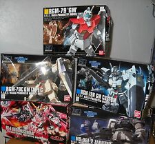 Gundam HGUC 1/144 5 model lot unbuilt damaged boxes Unicorn Destroy GM Zaku II