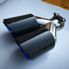"1X ID:2.5""63mm OD:3.5""89mm Dual Exhaust Tip Muffler Pipe Carbon Fiber No Logo"