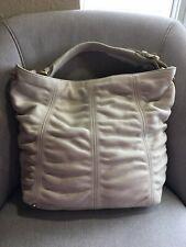 Furla Ivory Pebble Leather Hobo Shoulder Handbag