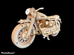 Laser Cut Wooden Triumph Bonneville 3D Model/Puzzle Kit