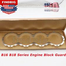 NEW Engine Block Guard For 1990-2001 Honda Acura B16 B18 Series Silver USA