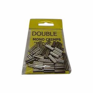 QUALITY DOUBLE MONO CRIMPS   PACK OF 50  -  100 / 150 / 200 / 250lb