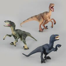 3pcs Jurassic Dinosaur Realistic Model Velociraptor Raptor Figures Set Dino Toys
