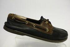 SPERRY TOP-SIDER A/O 2-Eye Black/Brown Sz 15 M Men Boat Shoes