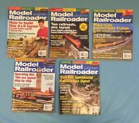 Model Railroader Magazine Lot from 2006 In good condition 5 Issues