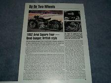 "1952 Ariel Square Four History Info Article ""Quad-Banger, British Style"""