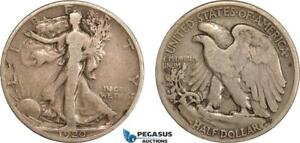 AC611-R, United States, Walking Liberty Half Dollar (50C) 1920-S, San Francisco,