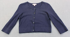 LILY PULITZER Girls NAVY BLUE MODAL COTTON CARDIGAN SWEATER Pre-Owned Size S