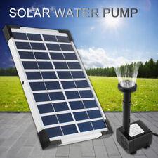 Solar Teichpumpe 5W 380l/h Solarpumpe Gartenteich Set Pumpenset Springbrunnen DE