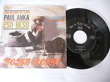 """PAUL ANKA"""" ESO BESO/BOSSA NOVA- DISCO 45 GIRI RCA Italy 1963"""""""
