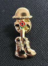 2018 Remembrance Day Poppy Pin Badge Brooch UK British Army Veteran Helmet Boot