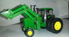 1/64 CUSTOM JOHN DEERE 4840 highly detailed TRACTOR W/ JD LOADER ERTL FARM TOY