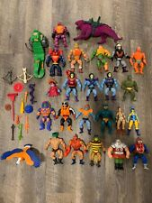 Masters Of The Universe Vintage Lot Of Figures He-Man Skeletor Weapons Vehicle