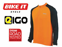 NEW EIGO TEMPEST CYCLING JERSEY - LONG SLEEVE ORANGE - MTB ROAD BIKE CYCLE