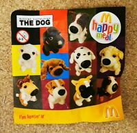 McDonalds Happy Meal Toy 2008 UK The Dog Artlist Collection Plush Toys - Various