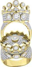 Anillos de joyería de metales preciosos sin piedras amarillos de plata de ley