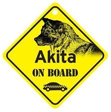 Akita On Board Dog Window Sign Made in Usa