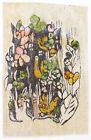 WETLAND BIRDS Tapestry / Wall Hanging Vintage 1970s Polish Folk Art Textile