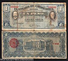 MEXICO 1 PESO 1915 CHIHUAHUA REVOLUTION REVOLUTIONARY X 25 PCS LOT MONEY NOTE