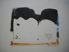 Oskar Koller aquarellierte Lithographie abstrakte Komposition sign 1972 Probedr