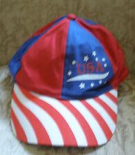 "Cap ""USA"" Logo Multi-Color Adjustable Unisex NEW"