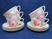 Johnson Brothers Old English Roses Cup & Saucer Lot Rare Charity Sale OC3