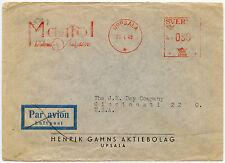 SWEDEN METER FRANKING ADVERTISING 1948 MANIOL...UPPSALA to CINCINNATI