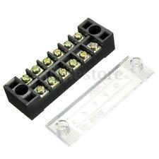 New 6 Position Wire Barrier Dual Row Screw Terminal Block/Strip Panel Connect