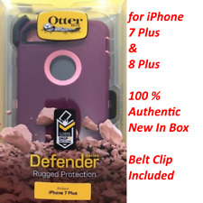 OtterBox Defender Cover Case+Holster For iPhone 7 Plus 8 Plus Purple Burgundy