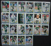 1991-92 O-Pee-Chee OPC Hartford Whalers Team Set of 22 Hockey Cards
