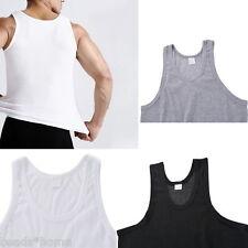Men's Plain T-Shirts Tank Top Muscle Camo Sleeveless Tee A-Shirt Cotton Blending