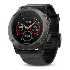 Garmin Fenix 5X Sapphire Slate Gray with Black Band GPS Watch 010-01733-00