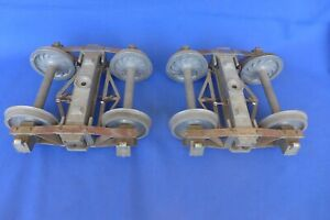 "Live Steam Archbar Bettendorf Sprung Trucks + Brakes Freight 1"" Scale 4-3/4"""