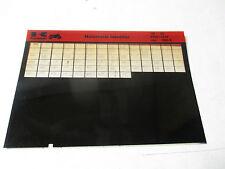 Kawasaki Motorcycle Identifier '65-'86 Micro Fiche 99961-0219