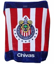 "Chivas Guadalajara Luxury Plush Throw Blanket Size 50""x60"""