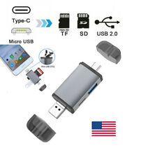 6 in 1 Type C 3.1 Micro to USB/TF/SD Card Reader OTG HUB Adapter For Samsung US