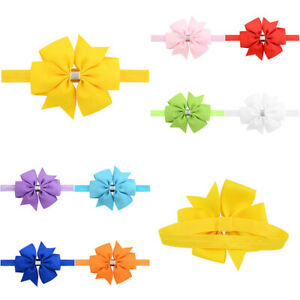 Kids Ribbon Bow Headband Baby Hair bands Flower Hair Ties Kids Hair Accessories