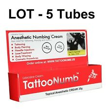 LOT - 5 Tubes x 30g TattooNumb Numbing Cream Tattoo Numb Piercing Waxing Laser