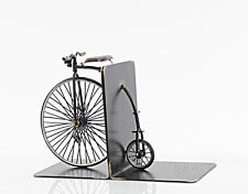 "1870 High Wheeler Penny Farthing Bicycle Metal Bookend Model 12"" Cycling Decor"