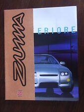 Zagato Zuma Concept Car Prospekt / Depliant / Brochure, GB, 1998, selten / rare!