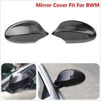 2PCS 100% Real Carbon Fiber Mirror Cover Cap For BMW E90 E91 330i 335i Pre LCI