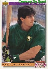 649 JOSE CANSECO DS OAKLAND ATHLETICS  BASEBALL CARD UPPER DECK 1992