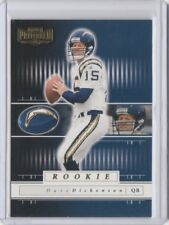 Stampeders & Lions CFL QB Dave Dickenson 2001 Playoff Preferred Rookie RC /1100