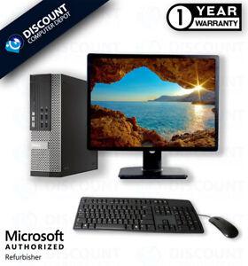 "Del i5 Desktop Computer 3.10GHz 8GB RAM 500GB HD Windows 10 Home PC 19"" LCD WIFI"