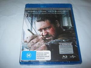 Robin Hood - Russell Crowe - Director's Cut - New Sealed Blu-Ray - Region B